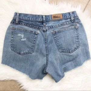 Vintage Riders distressed cutoff denim shorts